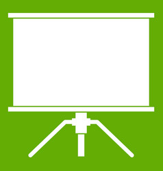 blank projection screen icon green vector image
