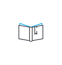 book reading thin line stroke icon book vector image