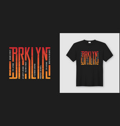 brooklyn stylish t-shirt and apparel design vector image