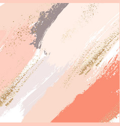 brush strokes in gentle nude pastel colors on a vector image