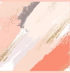 Brush strokes in gentle nude pastel colors vector