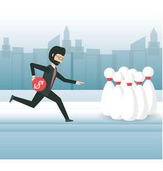 Cartoon businessman design concept vector