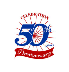 Celebrating 50 th years vector
