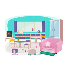 children furniture toys for preschool vector image