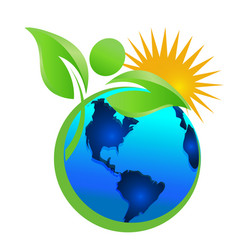 cleaning the earth and the environment mother vector image