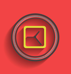 clock icon flat modern design vector image