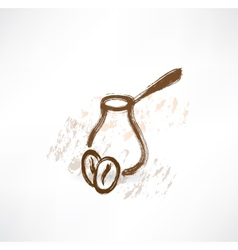 Coffee turk grunge icon vector