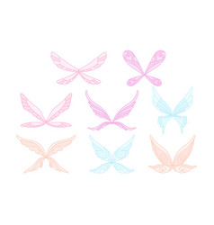 collection of pink blue and purple fairy s vector image