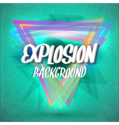 Colorful Neon Style Abstract Explosion Background vector image