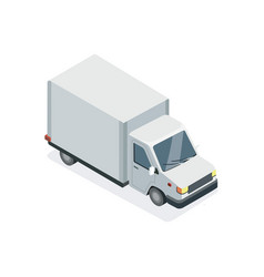 commercial truck isometric 3d element vector image
