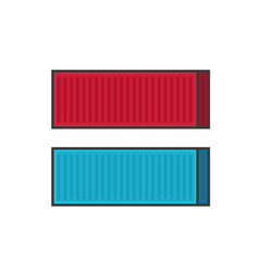 Container shipping line vector