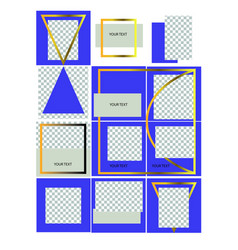 Corporate identity instagram design vector