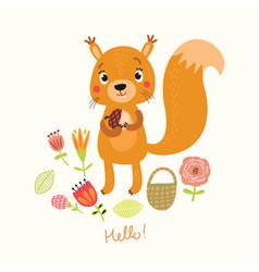 Cute squirrel vector