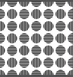 Dotted geometric seamles pattern striped cirlces vector