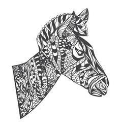 entangle style zebra head vector image