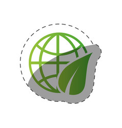 environment globe world design vector image