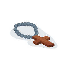 flat icon of holy christian rosary chaplet vector image