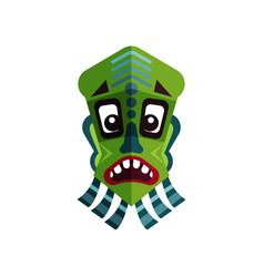 Flat icon of zulu mask ancient symbol of vector