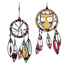 Fox and dream catcher vector