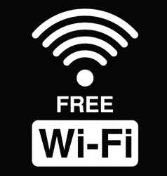 Free WiFi symbol vector