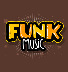 Funk music lettering type design image vector