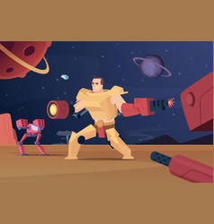 Future combat robots cyber war futuristic vector