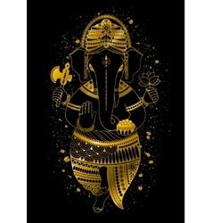 Golden Ganesha vector image