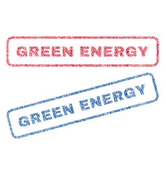 Green energy textile stamps vector