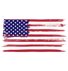 Grunge usa flag vector