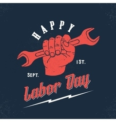Happy Labor Day Vintage Poster Card Print vector
