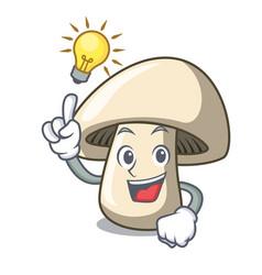 Have an idea champignon mushroom mascot cartoon vector