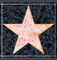 Hollywood walk fame blank star vector