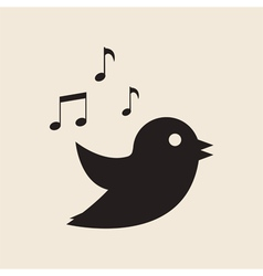 icon twitter bird vector image vector image