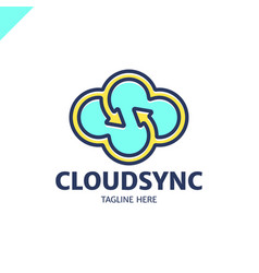 infinity cloud logotype design cloud letter s vector image