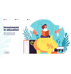 Investments in education investment in knowledge vector