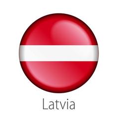 latvia round button flag vector image