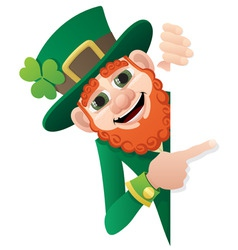leprechaun sign vector image