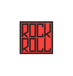 lettering rock and roll musical logo square vector image