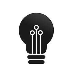 light bulb electronic ideas symbol graphic design vector image