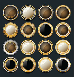 luxury golden design elements collection 10 vector image