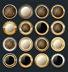 luxury golden design elements collection 10 vector image