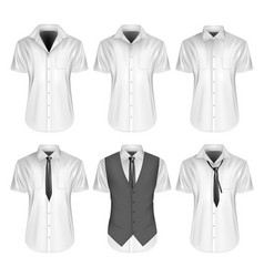 Mens short sleeve formal vector