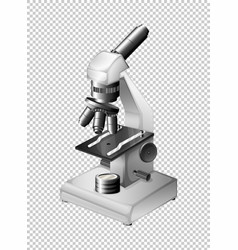 Microscope with three lens vector