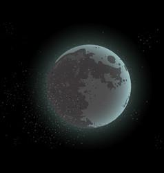 moon in dark cosmos space vector image