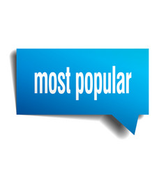 most popular blue 3d speech bubble vector image