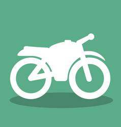 motorcycle transport vehicle icon vector image