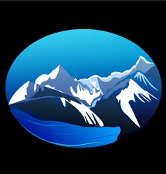 Mountains and peaks vector