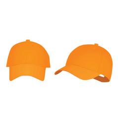 Orange baseball cap vector