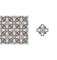 ornate decorative tiles abstract background vector image