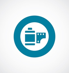 Photo film icon bold blue circle border vector